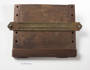Thomas Rhodes Armitage's braille writing frame, c. 1880. RNIB collection.
