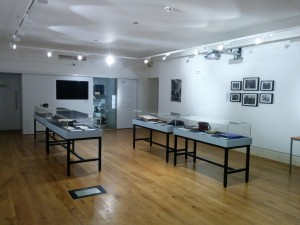 Photo of exhibition displays.